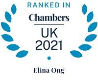 Chambers and Partners 2021 (Ranked In - Elina Ong)