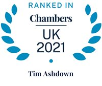 Chambers and Partners 2021 (Ranked In - Tim Ashdown)