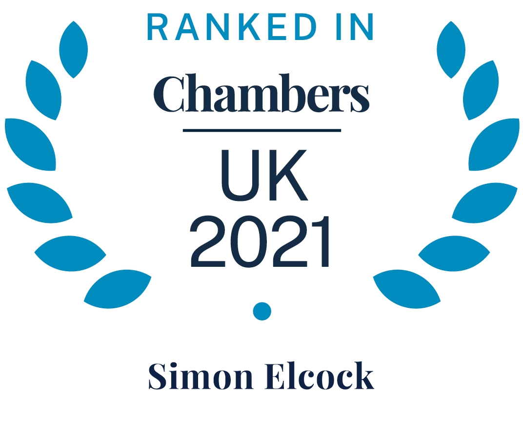 Chambers and Partners 2021 (Ranked In - Simon Elcock)