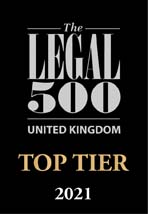 Legal 500 2021 (UK Top Tier Firm)