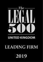 Legal 500 2019 (Leading Firm)