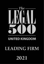 Legal 500 2021 (UK Leading Firm)