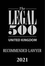 Legal 500 2021 (UK Recommended Lawyer)